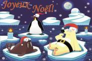 Flagge Frohe Weihnachten Polar Französisch