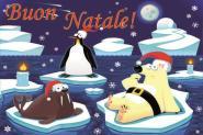 Flagge Frohe Weihnachten Polar Italienisch