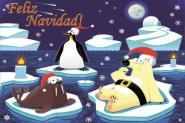 Flagge Frohe Weihnachten Polar Spanisch
