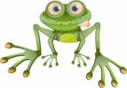Aufkleber Frosch Motiv Nr. 1