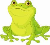 Aufkleber Frosch Motiv 2
