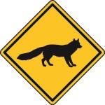Aufkleber Vorsicht / Achtung Fuchs