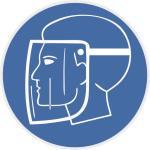Aufkleber Gebotsschild Gesichtsschutzschild