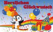 Fahne Geburtstag Pinguin 90 x 150 cm