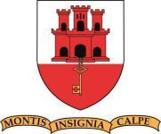 Aufkleber Gibraltar Wappen