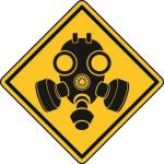 Aufkleber Vorsicht / Achtung Giftgas