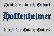 Aufnäher Hoffenheimer durch die Gnade Gottes Patch 9 x 6 cm