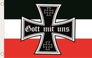 Fahne Gott mit uns Kaiserreich Deutsches Reich 90 x 150 cm