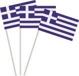 Papierfahnen Griechenland 10 Stück