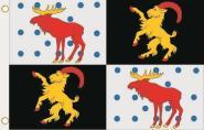 Fahne Gävleborgs län 90 x 150 cm