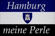 Aufnäher Hamburg meine Perle Patch 9 x 6 cm