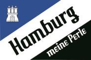 Flagge Hamburg meine Perle Motiv III