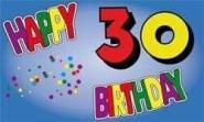 Fahne Happy Birthday 30 II 90 x 150 cm