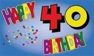 Fahne Happy Birthday 40 II 90 x 150 cm