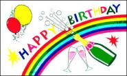 Stockflagge Happy Birthday 30 x 45 cm