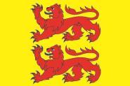 Flagge Hautes Pyrenees Department