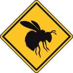 Aufkleber Vorsicht / Achtung Hummel