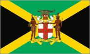 Flagge Jamaika mit Wappen