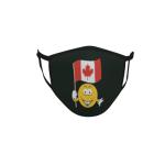 Gesichtsmaske Behelfsmaske Mundschutz schwarz Kanada Smily