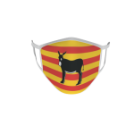 Gesichtsmaske Behelfsmaske Mundschutz  Katalonien Esel L