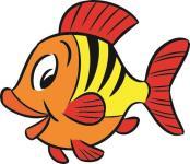 Aufkleber kleiner Fisch