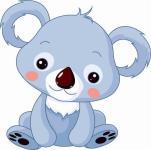 Aufkleber kleiner Koala