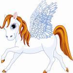 Aufkleber kleiner Pegasus