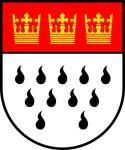 Aufkleber Köln Wappen