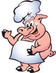 Aufkleber Koch Schwein