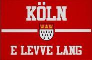 Aufnäher Köln e leve lang rot Patch 9 x 6 cm