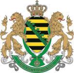 Aufkleber Königreich Sachsen Wappen