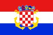 Aufkleber Kroatien Seekriegsflagge
