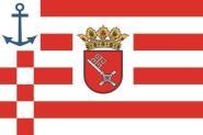 Aufkleber Landesdienstflagge der bremischen Schifffahrt historisch