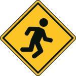 Aufkleber Vorsicht / Achtung Laufen
