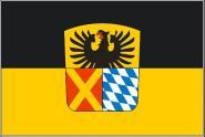 Flagge Landkreis Donau - Ries