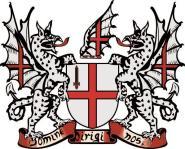 Aufkleber London Wappen 10 x 12 cm