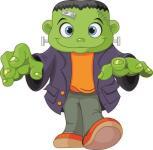 Aufkleber lustiger Frankenstein