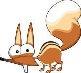 Aufkleber lustiges Eichhörnchen Scrat