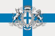 Flagge Marseille mit Wappen