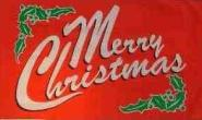 Stockflagge Merry Christmas rot 30 x 45 cm