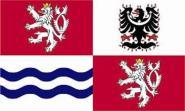 Flagge Mittel Böhmen Region
