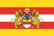Flagge Münster mit Großem Wappen Variante B