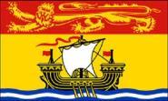Fahne New Brunswick 30 x 45 cm