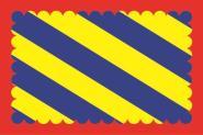 Flagge Niévre Department