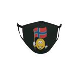 Gesichtsmaske Behelfsmaske Mundschutz schwarz Norwegen Smily