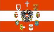 Flagge Österreich Adler mit 9 Bundesländer Wappen