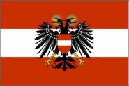Fahne Österreich mit Adler 1934-38 90 x 150 cm