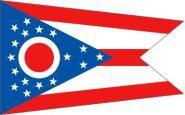 Fahne Ohio 90 x 150 cm