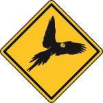 Aufkleber Vorsicht / Achtung Papagei