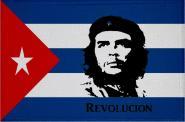 Aufnäher Patch Kuba mit Che Guevara Revolution  9 x 6 cm